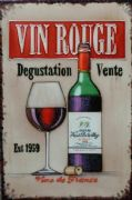 "'Vin Rouge' by Martin Wiscombe, 8""x12"", Decorative Ceramic Tile"